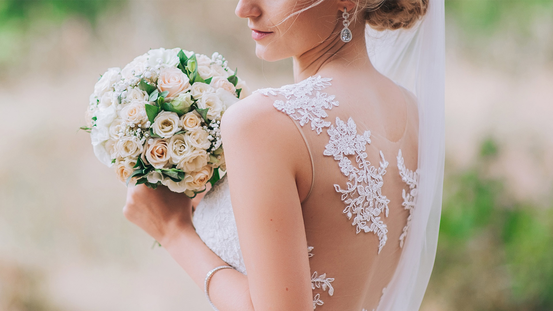 Bouquet of love in her heart